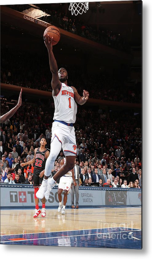 Nba Pro Basketball Metal Print featuring the photograph Emmanuel Mudiay by Nathaniel S. Butler