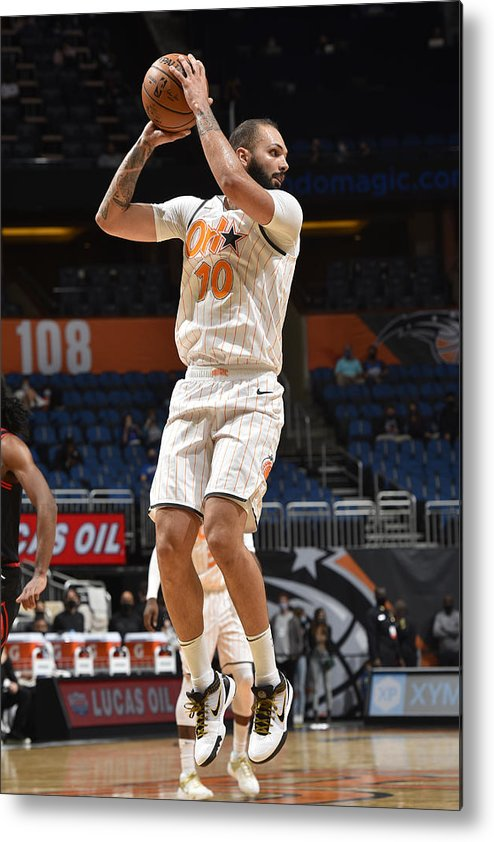 Nba Pro Basketball Metal Print featuring the photograph Evan Fournier by Gary Bassing