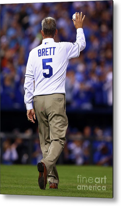 Game Two Metal Print featuring the photograph George Brett by Elsa