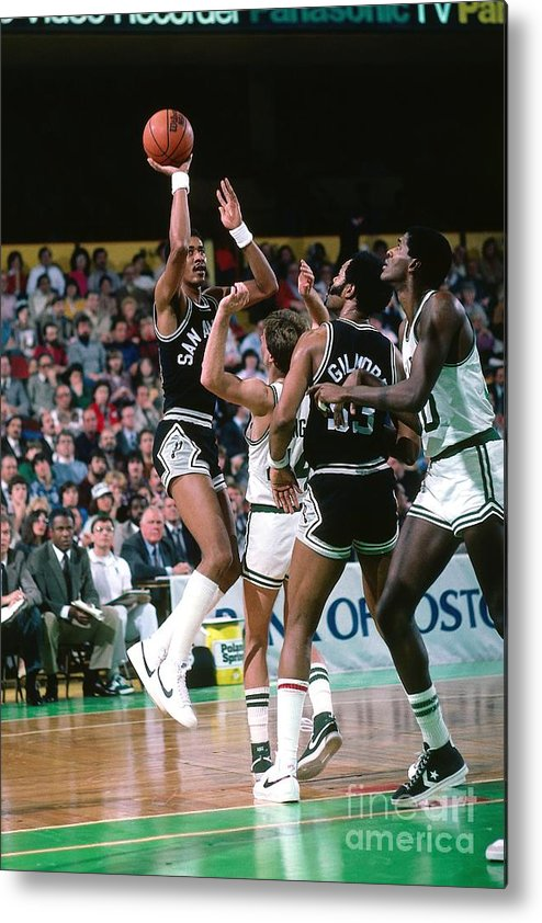1980-1989 Metal Print featuring the photograph George Gervin by Dick Raphael