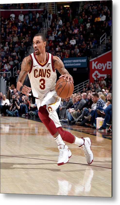 Sports Ball Metal Print featuring the photograph George Hill by David Liam Kyle