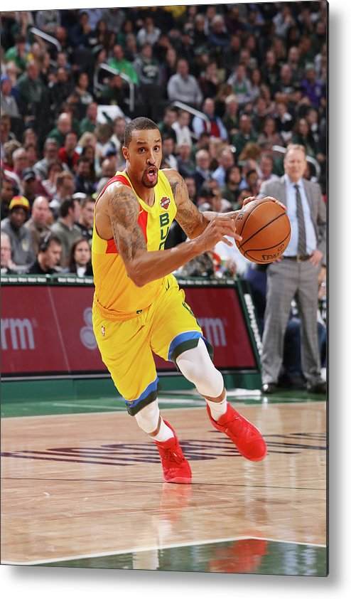 Nba Pro Basketball Metal Print featuring the photograph George Hill by Gary Dineen