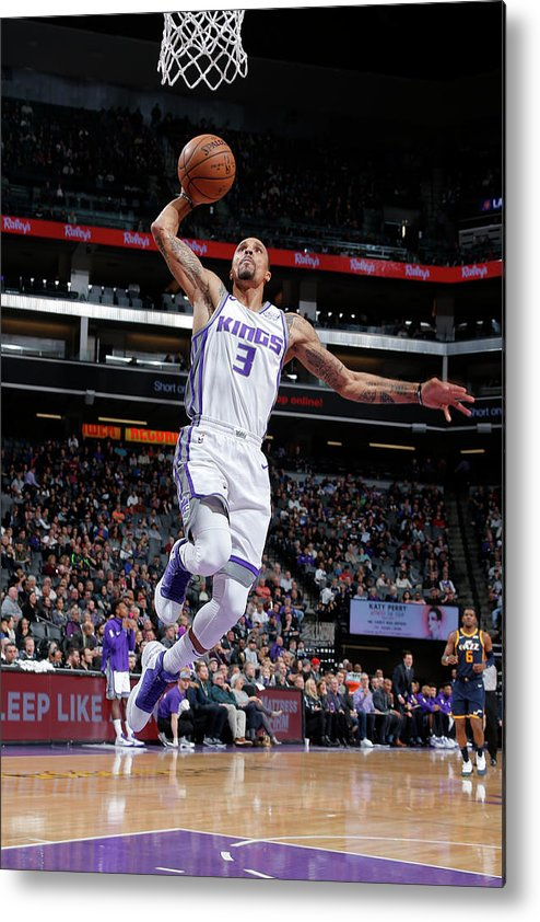 Nba Pro Basketball Metal Print featuring the photograph George Hill by Rocky Widner