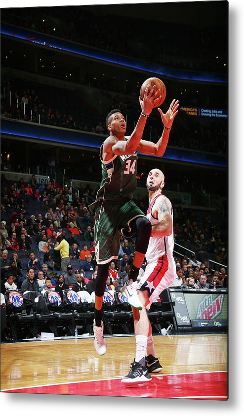 Nba Pro Basketball Metal Print featuring the photograph Giannis Antetokounmpo by Ned Dishman
