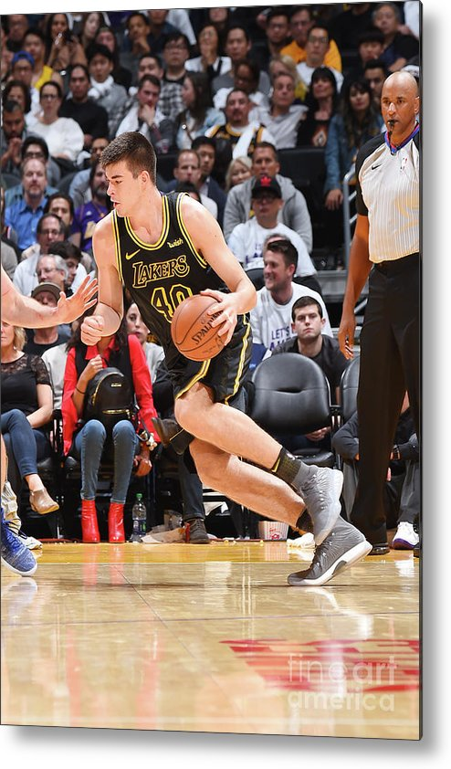 Nba Pro Basketball Metal Print featuring the photograph Ivica Zubac by Andrew D. Bernstein