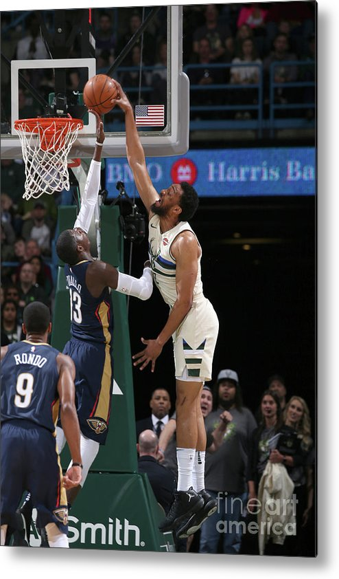 Nba Pro Basketball Metal Print featuring the photograph Jabari Parker by Gary Dineen