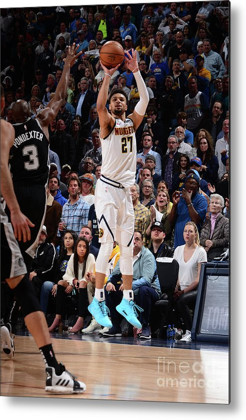 Playoffs Metal Print featuring the photograph Jamal Murray by Bart Young