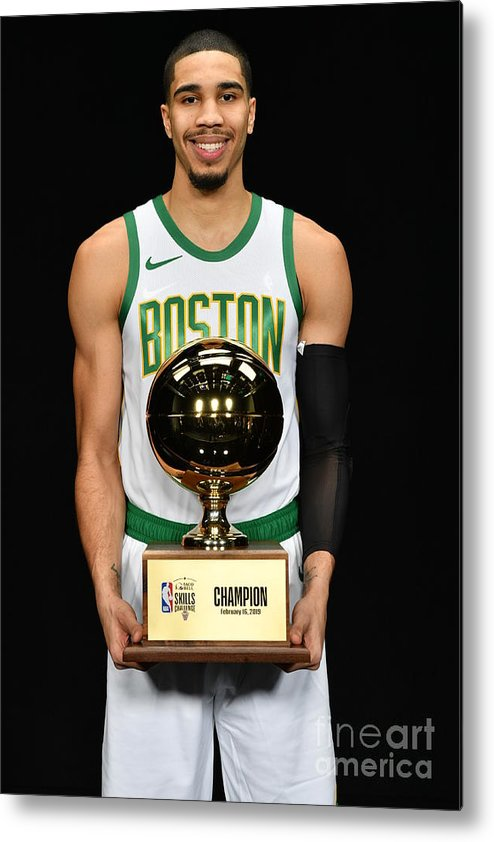 Nba Pro Basketball Metal Print featuring the photograph Jayson Tatum by Jesse D. Garrabrant