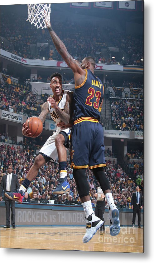 Playoffs Metal Print featuring the photograph Jeff Teague by Ron Hoskins