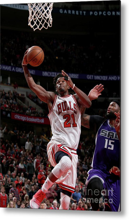Nba Pro Basketball Metal Print featuring the photograph Jimmy Butler by Gary Dineen