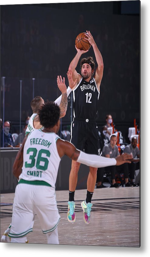 Nba Pro Basketball Metal Print featuring the photograph Joe Harris by Bill Baptist