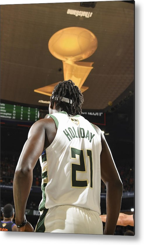 Playoffs Metal Print featuring the photograph Jrue Holiday by Andrew D. Bernstein
