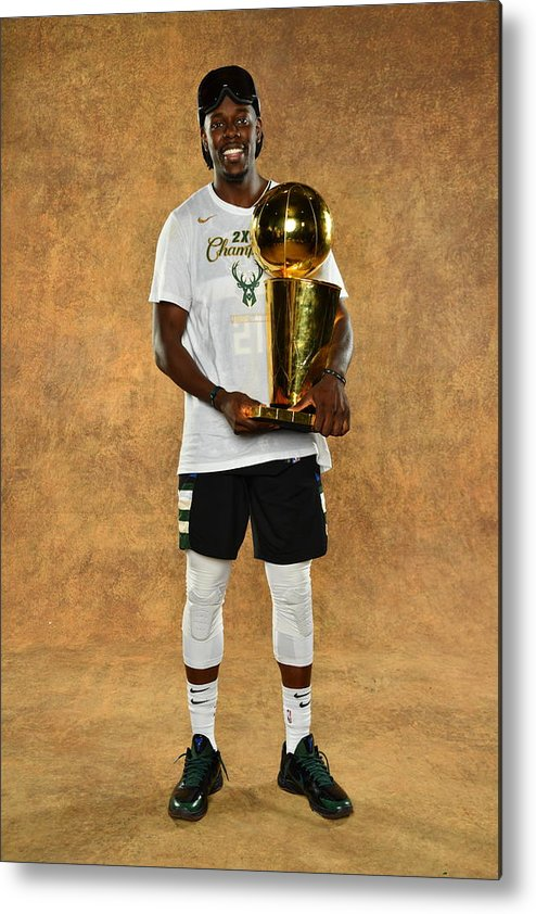 Playoffs Metal Print featuring the photograph Jrue Holiday by Jesse D. Garrabrant