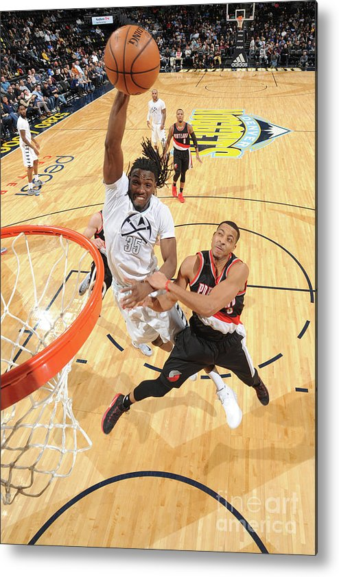 Nba Pro Basketball Metal Print featuring the photograph Kenneth Faried by Garrett Ellwood