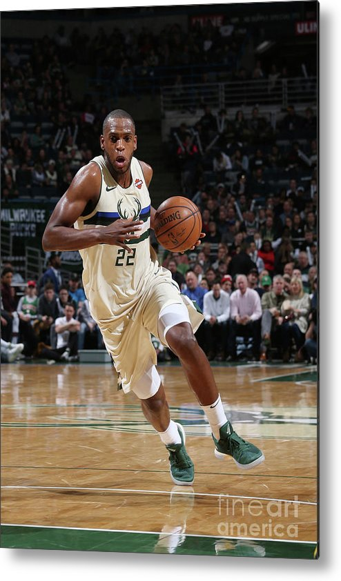 Nba Pro Basketball Metal Print featuring the photograph Khris Middleton by Gary Dineen
