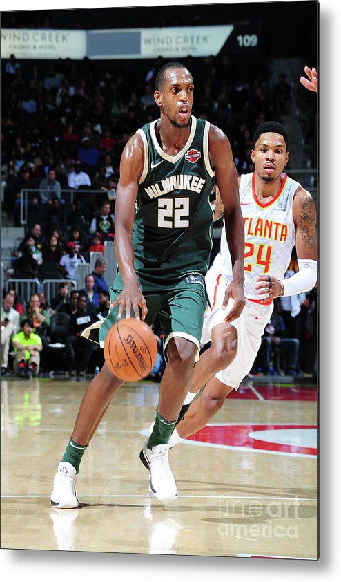 Sport Metal Print featuring the photograph Khris Middleton by Scott Cunningham