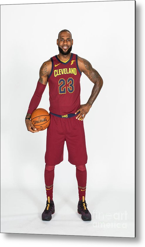 Media Day Metal Print featuring the photograph Lebron James by Michael J. Lebrecht Ii