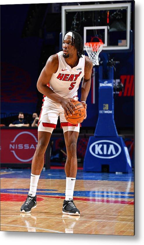Nba Pro Basketball Metal Print featuring the photograph Miami Heat v Philadelphia 76ers by Jesse D. Garrabrant