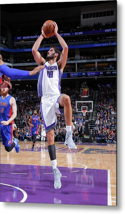 Nba Pro Basketball Metal Print featuring the photograph Omri Casspi by Rocky Widner