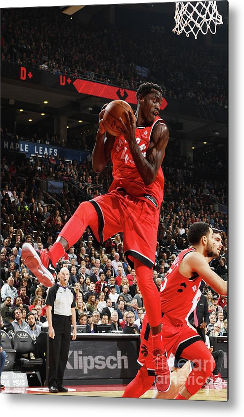 Nba Pro Basketball Metal Print featuring the photograph Pascal Siakam by Ron Turenne