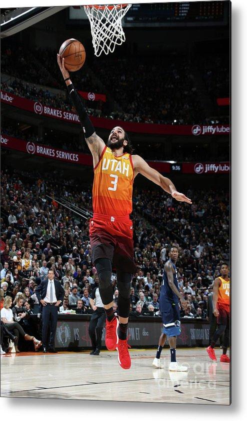 Nba Pro Basketball Metal Print featuring the photograph Ricky Rubio by Melissa Majchrzak