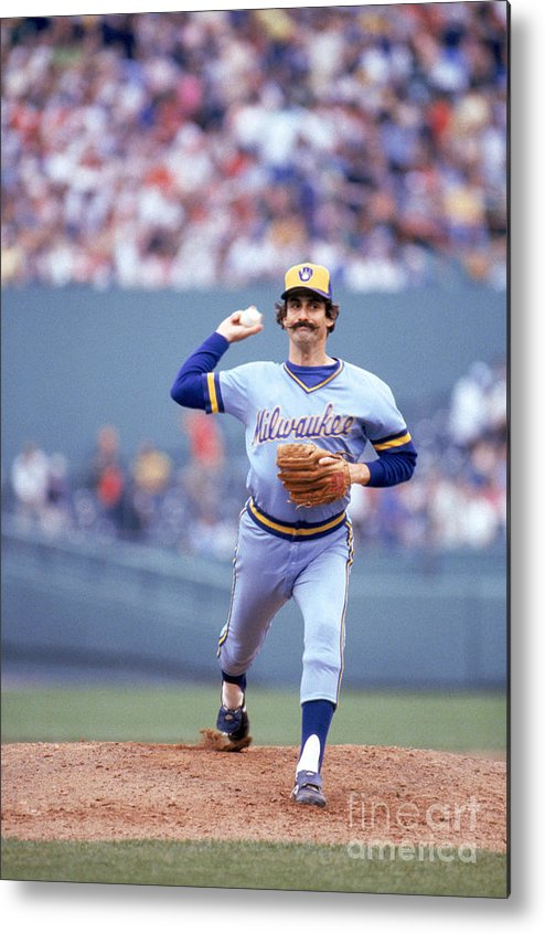 1980-1989 Metal Print featuring the photograph Rollie Fingers by Rich Pilling