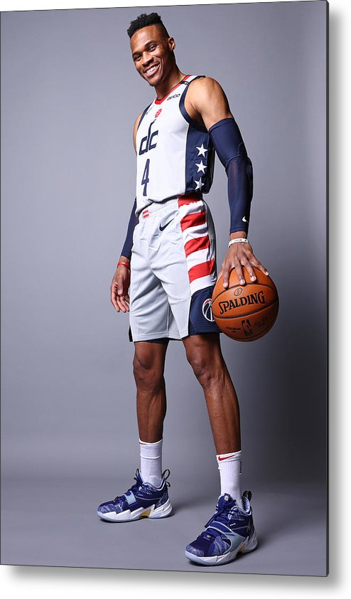Media Day Metal Print featuring the photograph Russell Westbrook by Ned Dishman