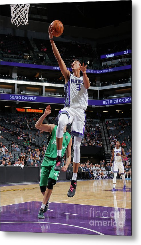Maccabi Haifa Metal Print featuring the photograph Skal Labissiere by Rocky Widner