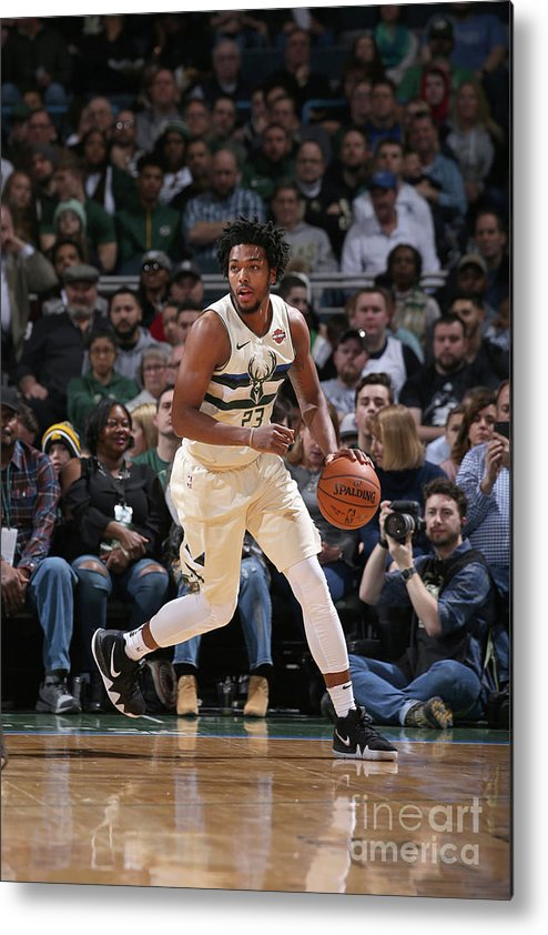Nba Pro Basketball Metal Print featuring the photograph Sterling Brown by Gary Dineen