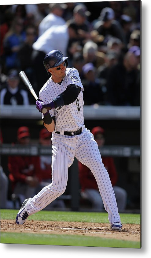 Shortstop Metal Print featuring the photograph Troy Tulowitzki by Doug Pensinger