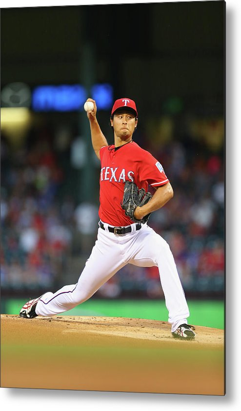 American League Baseball Metal Print featuring the photograph Yu Darvish by Ronald Martinez