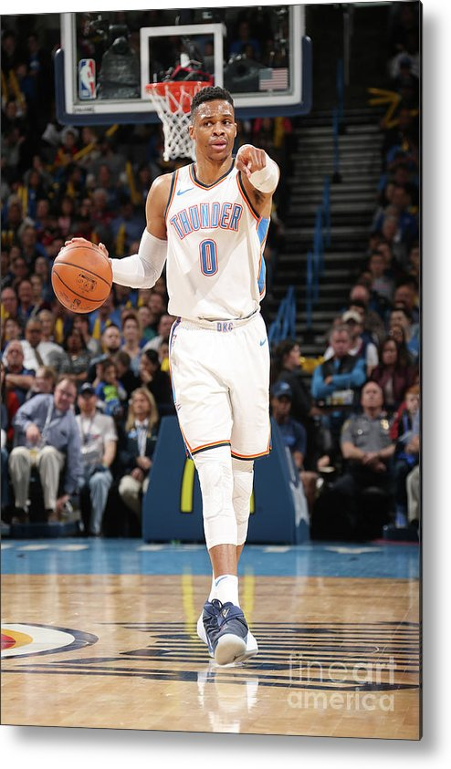 Nba Pro Basketball Metal Print featuring the photograph Russell Westbrook by Layne Murdoch