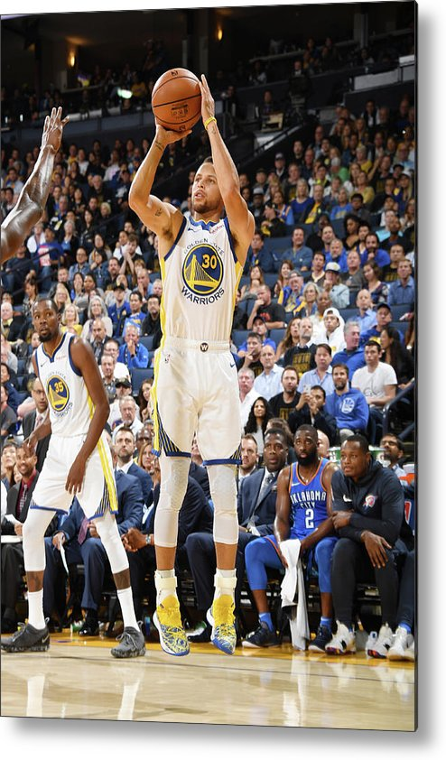 Nba Pro Basketball Metal Print featuring the photograph Stephen Curry by Andrew D. Bernstein