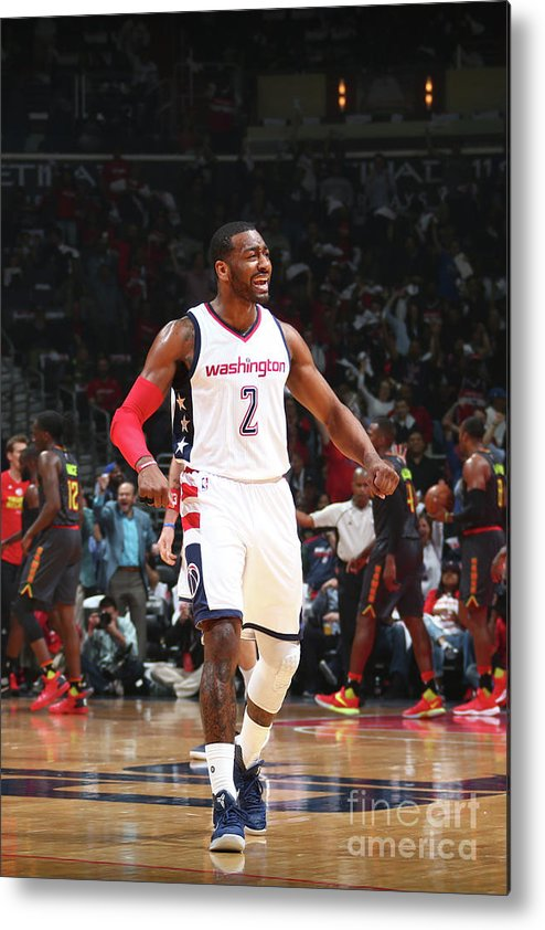 Playoffs Metal Print featuring the photograph John Wall by Ned Dishman