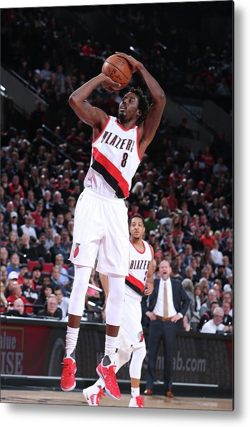 Nba Pro Basketball Metal Print featuring the photograph Al-farouq Aminu by Sam Forencich