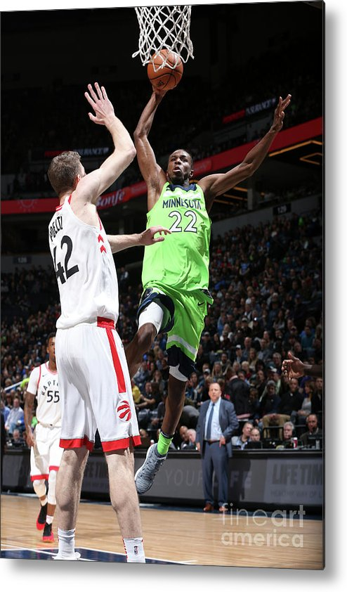 Nba Pro Basketball Metal Print featuring the photograph Andrew Wiggins by David Sherman