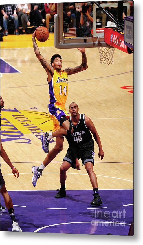 Nba Pro Basketball Metal Print featuring the photograph Brandon Ingram by Andrew D. Bernstein