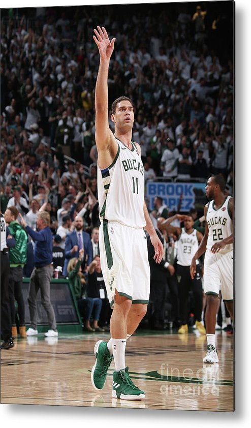 Playoffs Metal Print featuring the photograph Brook Lopez by Gary Dineen