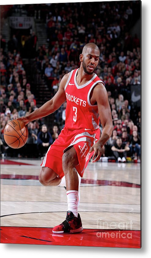 Nba Pro Basketball Metal Print featuring the photograph Chris Paul by Sam Forencich
