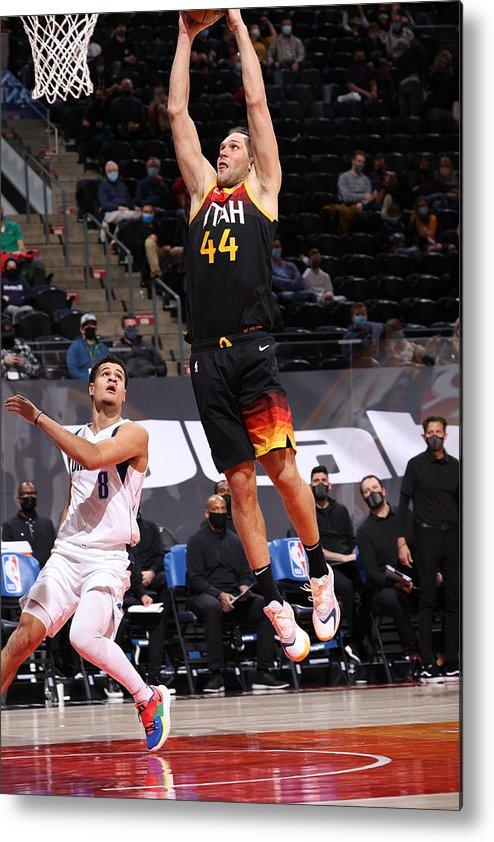 Nba Pro Basketball Metal Print featuring the photograph Dallas Mavericks v Utah Jazz by Melissa Majchrzak