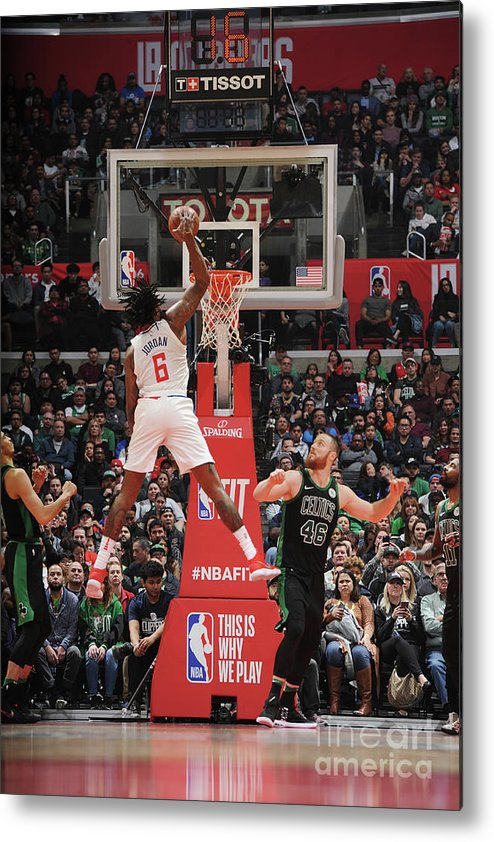 Nba Pro Basketball Metal Print featuring the photograph Deandre Jordan by Andrew D. Bernstein