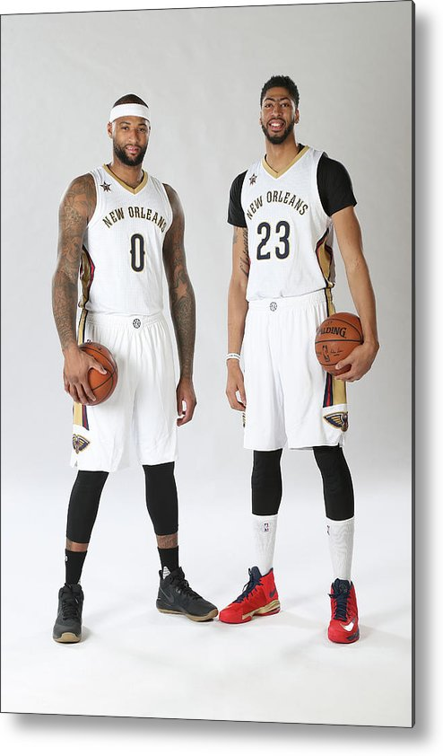 Nba Pro Basketball Metal Print featuring the photograph Demarcus Cousins and Anthony Davis by Layne Murdoch