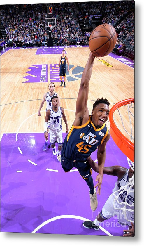 Nba Pro Basketball Metal Print featuring the photograph Donovan Mitchell by Rocky Widner