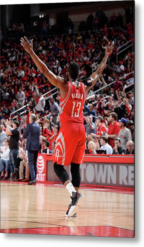 Nba Pro Basketball Metal Print featuring the photograph James Harden by David Dow