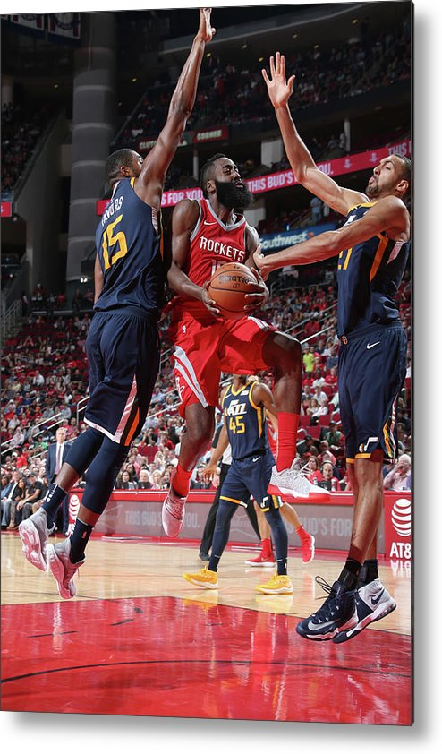 Nba Pro Basketball Metal Print featuring the photograph James Harden by Layne Murdoch
