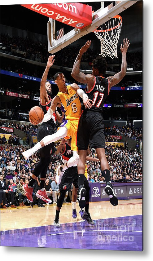 Nba Pro Basketball Metal Print featuring the photograph Jordan Clarkson by Andrew D. Bernstein