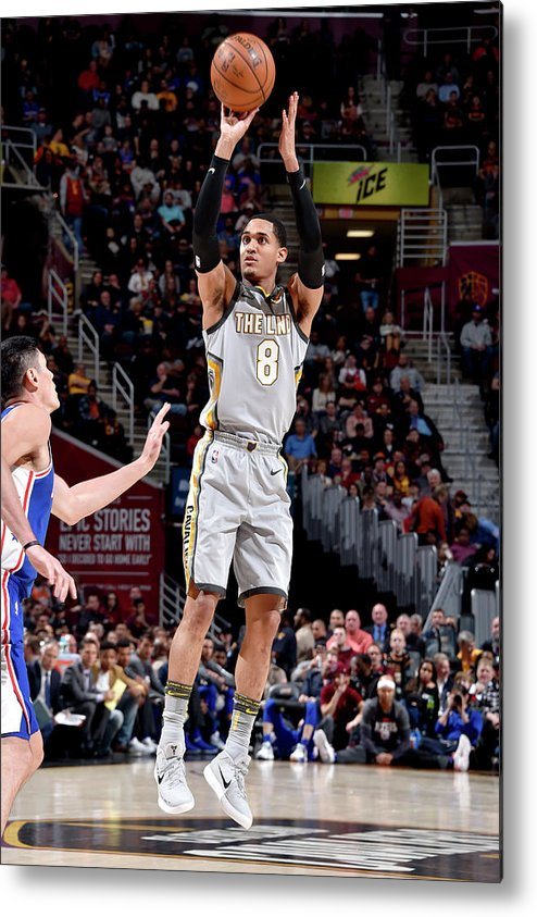Nba Pro Basketball Metal Print featuring the photograph Jordan Clarkson by David Liam Kyle
