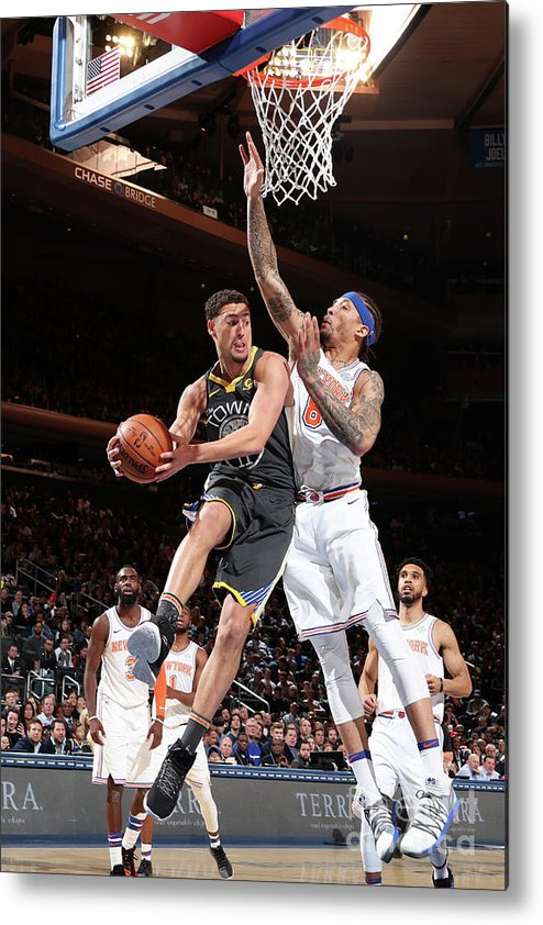 Nba Pro Basketball Metal Print featuring the photograph Klay Thompson by Nathaniel S. Butler