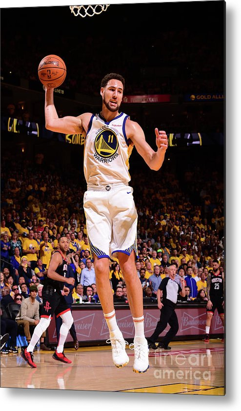Playoffs Metal Print featuring the photograph Klay Thompson by Noah Graham