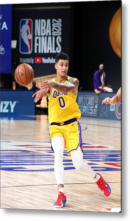 Playoffs Metal Print featuring the photograph Kyle Kuzma by Nathaniel S. Butler